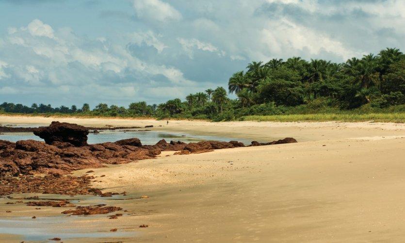 Plage de Guinée.