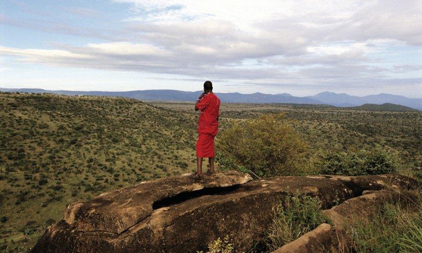 Il Ngwesi, Masaï devant la plaine