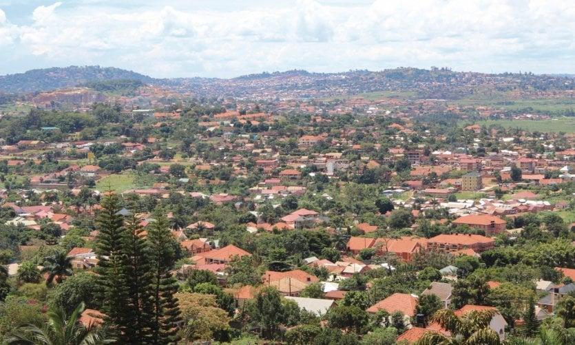 Quartier résidentiel de Kampala.