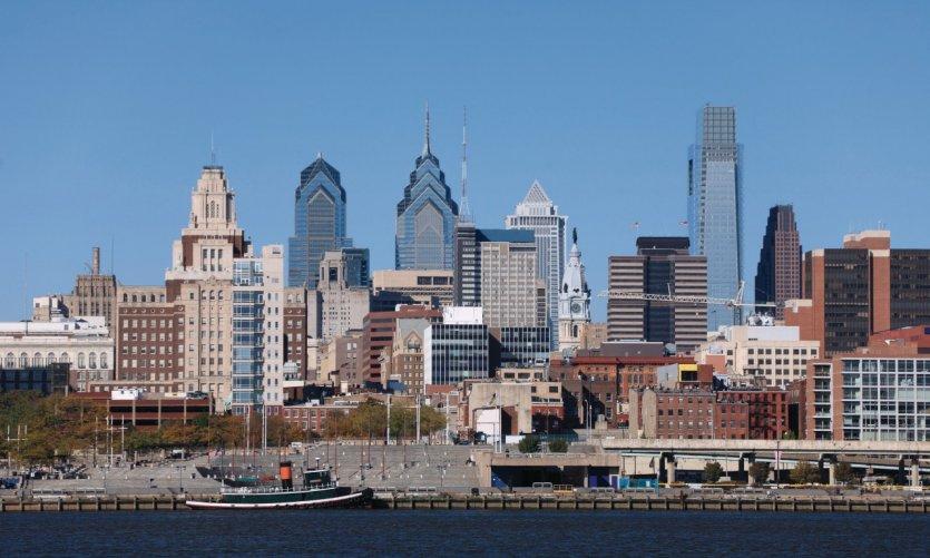 Vistas de la ciudad de Filadelfia