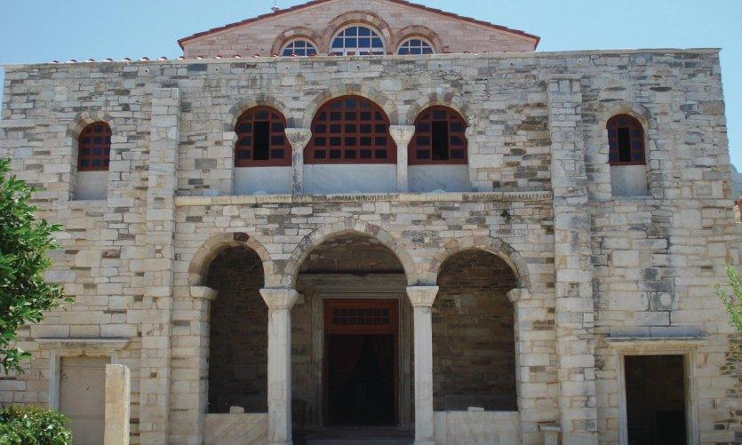 Panaghia Ektapoliani, l'un des monuments byzantins les plus importants de Grèce.