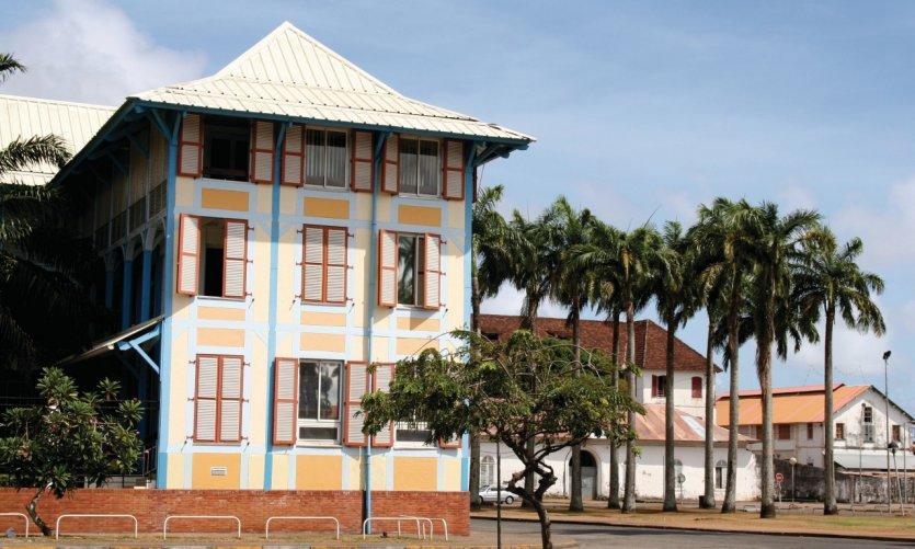 Quartier colonial de Cayenne.