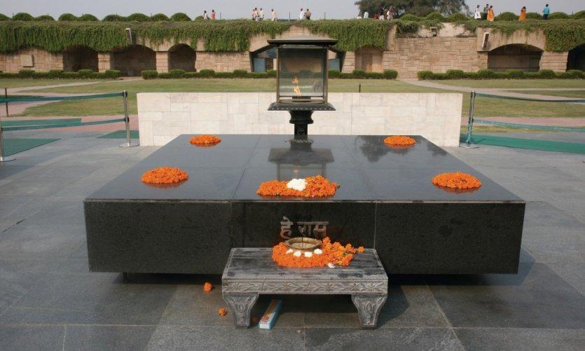 Monument dédié à Mahatma Gandhi.