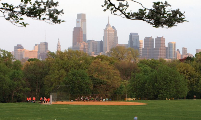 Baseball dans le West Fairmont Park.