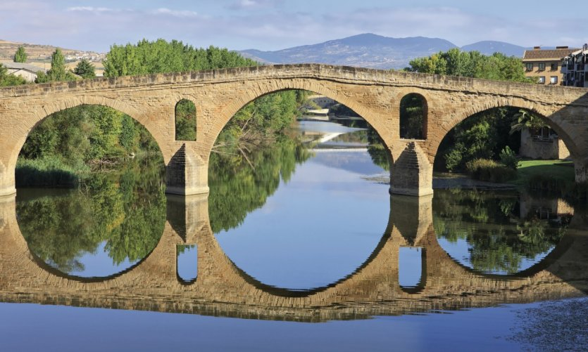 <p>Romanesque bridge in Puente la Reina.</p>