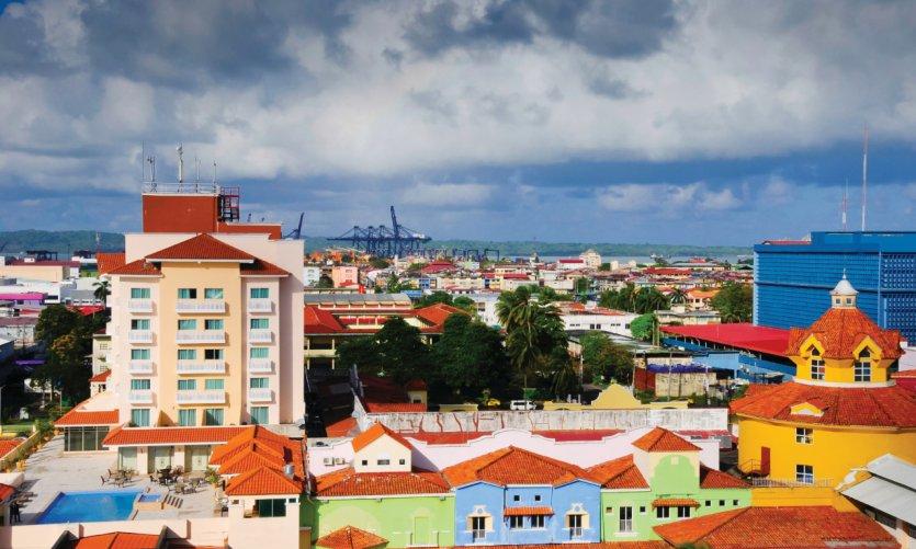 Bâtiments colorés de Colon.