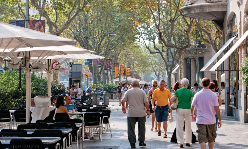 Passeig de Gràcia, quartier de l'Eixample.
