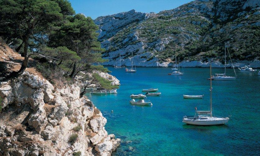 La Calanque de Sormiou, aux environs de Marseille