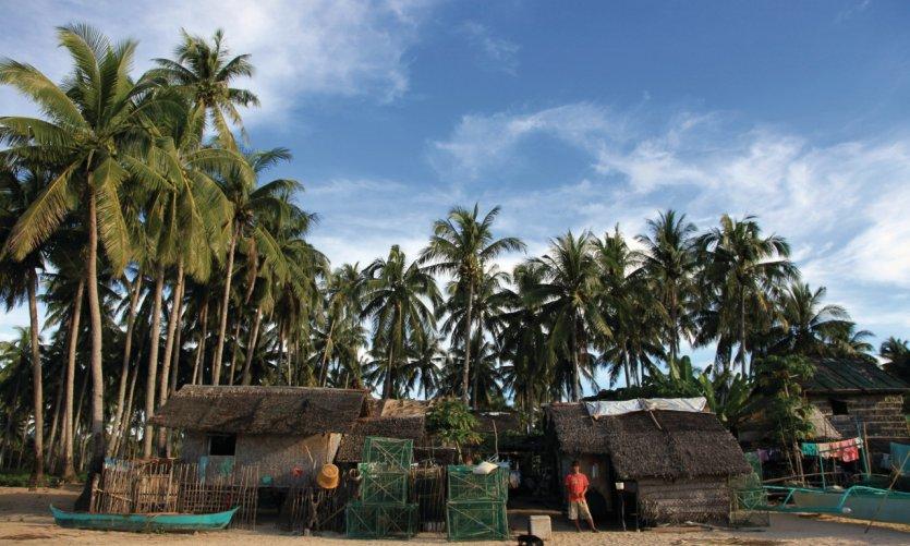 Village de Calitang au nord de Palawan.