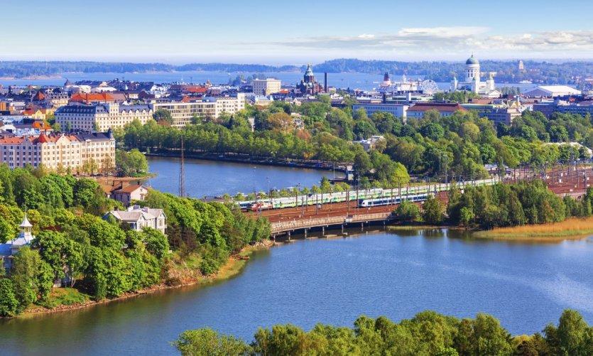 Vue aérienne de la ville d'Helsinki.