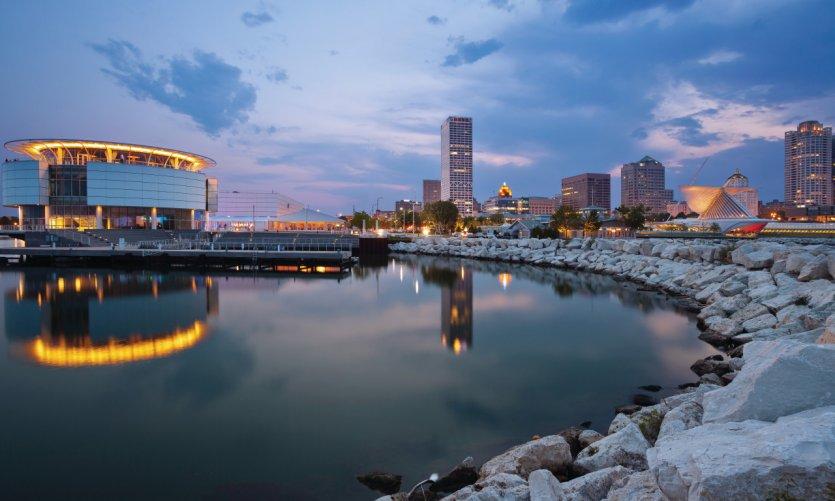 <p>Milwaukee et le lac Michigan.</p>