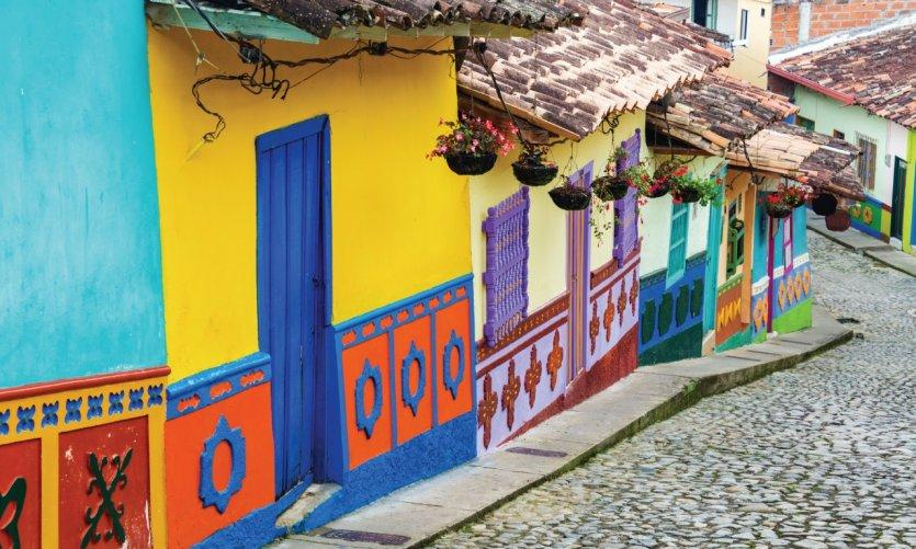 Rues colorées de Guatapé.