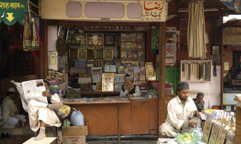Boutique près de la mosquée Jama Masjid.