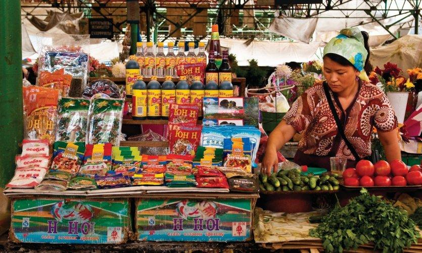 On trouve de tout au bazar d'Osh, lieu incontournable de la vie locale à Bichkek