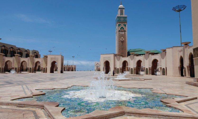 <p>Hassan II Mosque.</p>