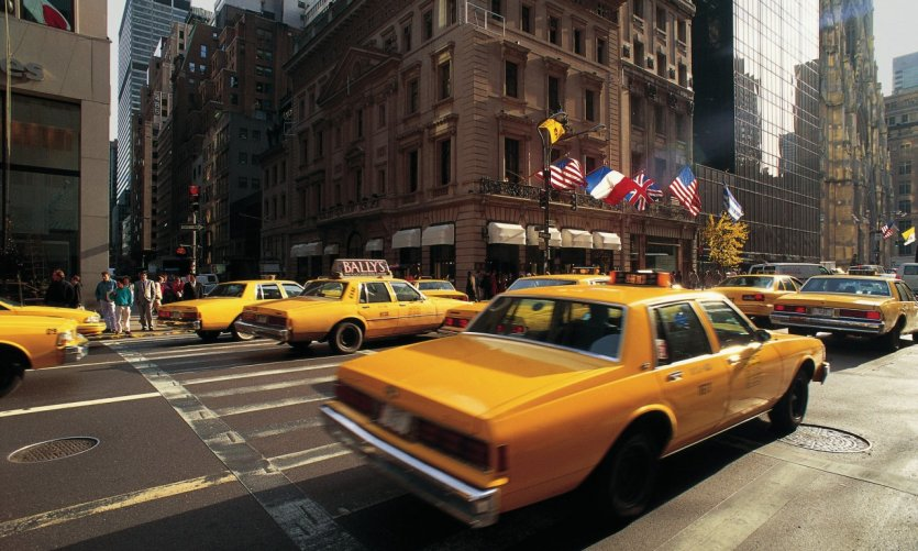 Taxis on 5th avenue.