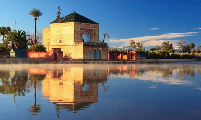 Jardin Ménara à Marrakech.