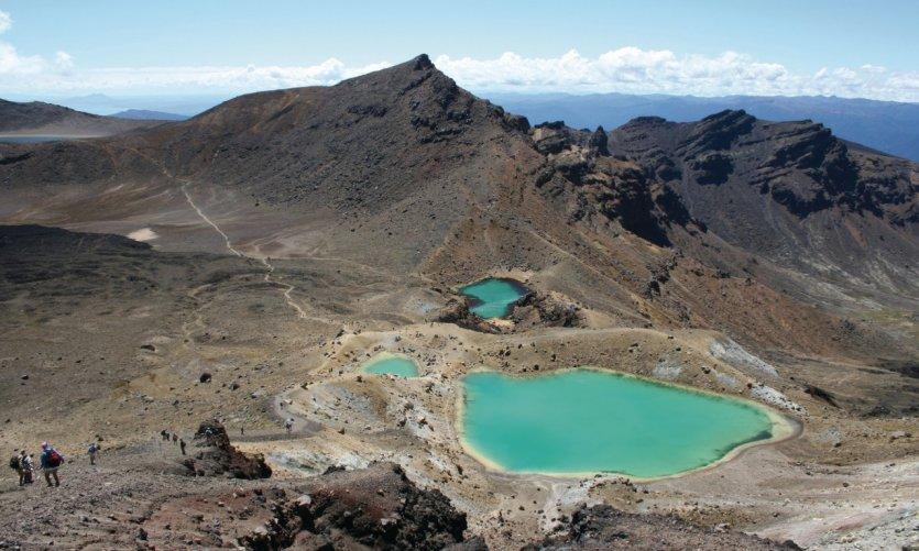 Emerald Lakes du Tongariro.