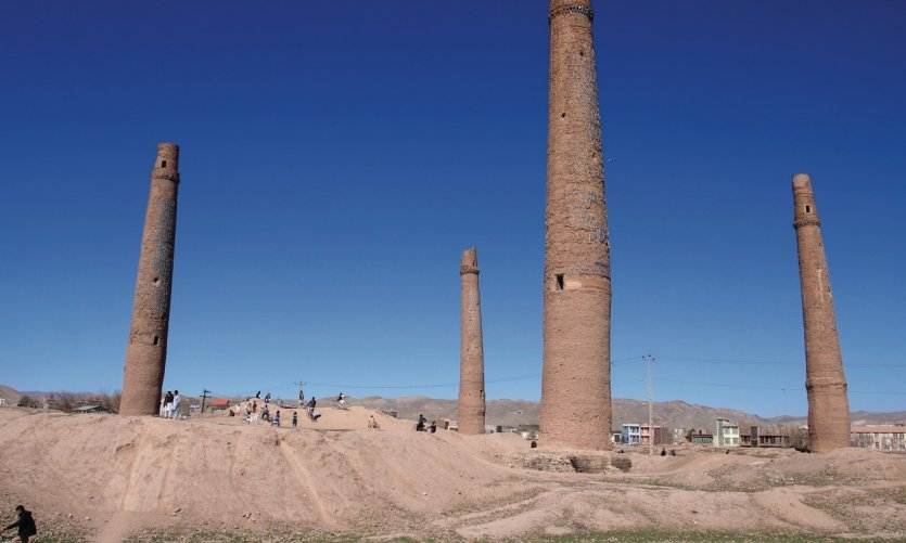 <p>These four minarets come from the last emperor timurid of Hérât.</p>