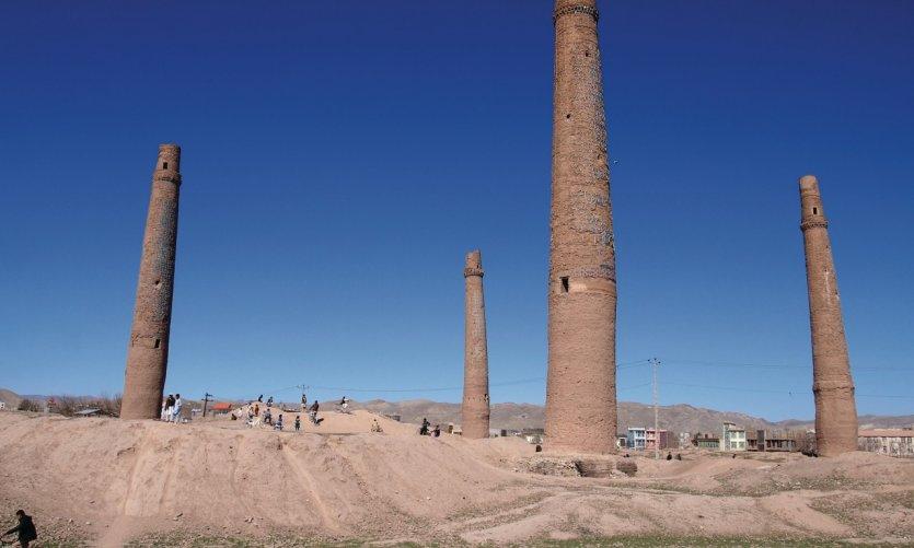 Ces quatre minarets datent du dernier empereur timuride d'Hérât.