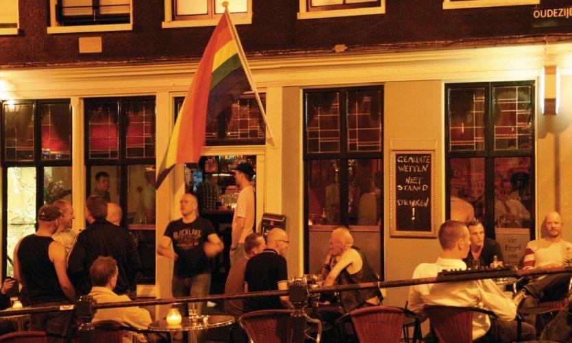 Cafés gays dans le centre d'Amsterdam