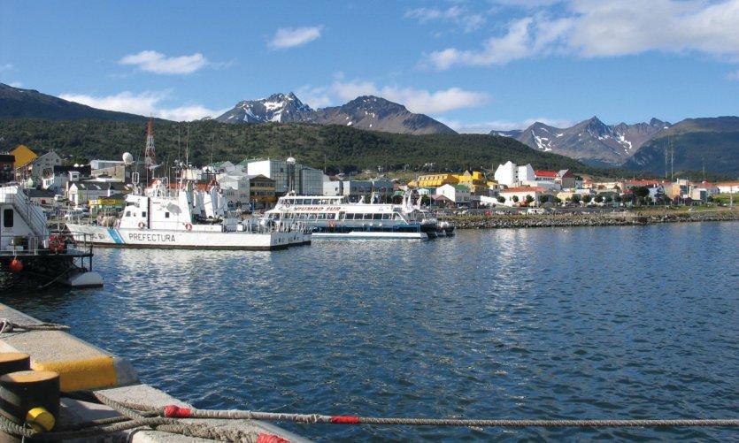 Ushuaia port.