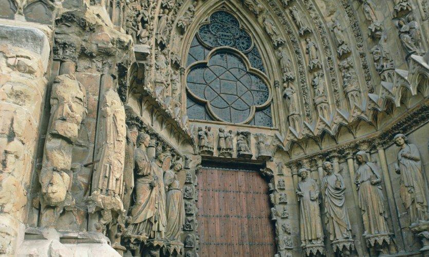 Le portail principal de la cathédrale de Reims