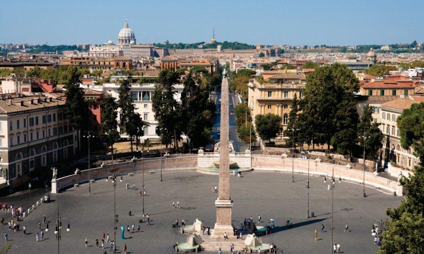 Piazza del Popolo vue depuis le Pincio.