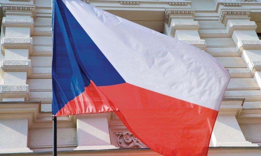 Drapeau national de la République Tchèque.