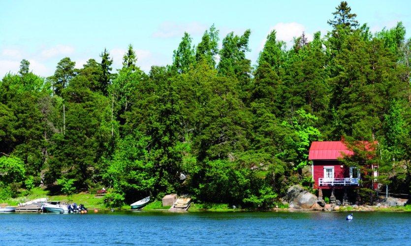 Visite des îles par le canal