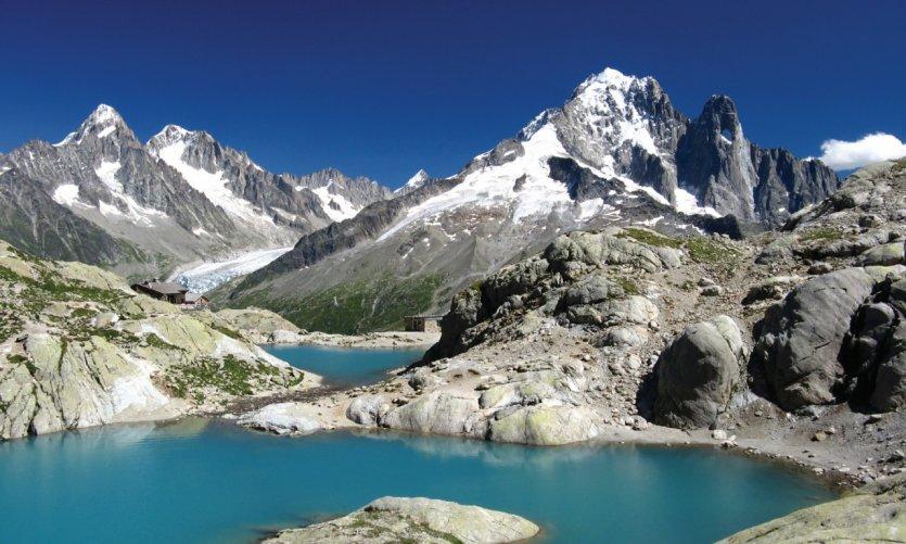 Le lac Blanc près de Chamonix