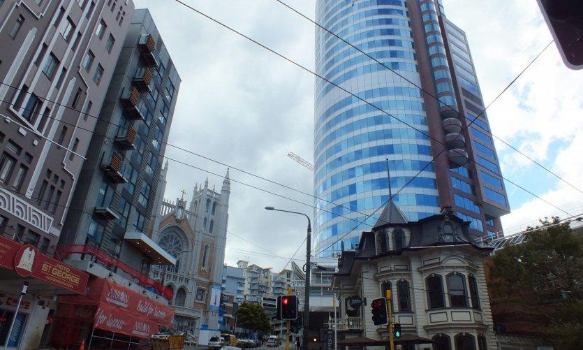 Le centre-ville de Wellington.
