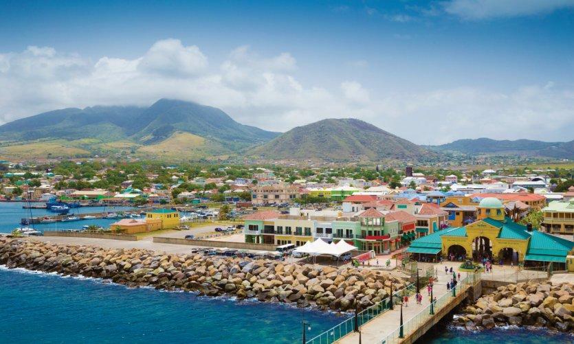 Port Zante, Basseterre, île de Nevis.