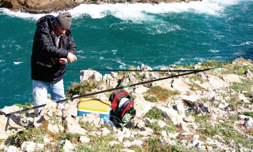 Pêcheur au Cabo de São Vicente.