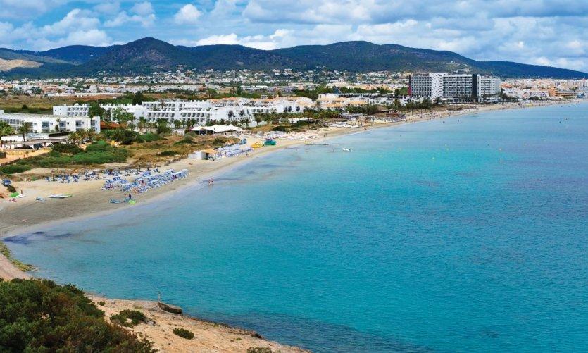 <p>Playa d'en Bossa.</p>