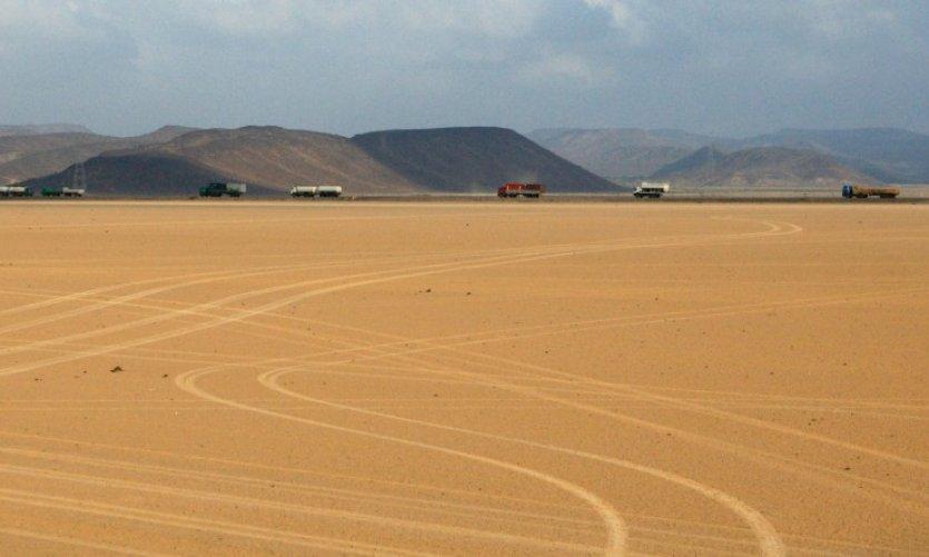 Désert de Djibouti.