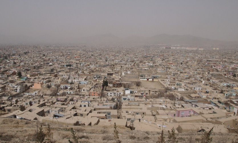 <p>View of Kabul from the hill of Wazir Akbar Khan.</p>