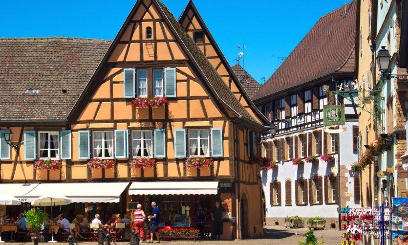 Le village d'Eguisheim.