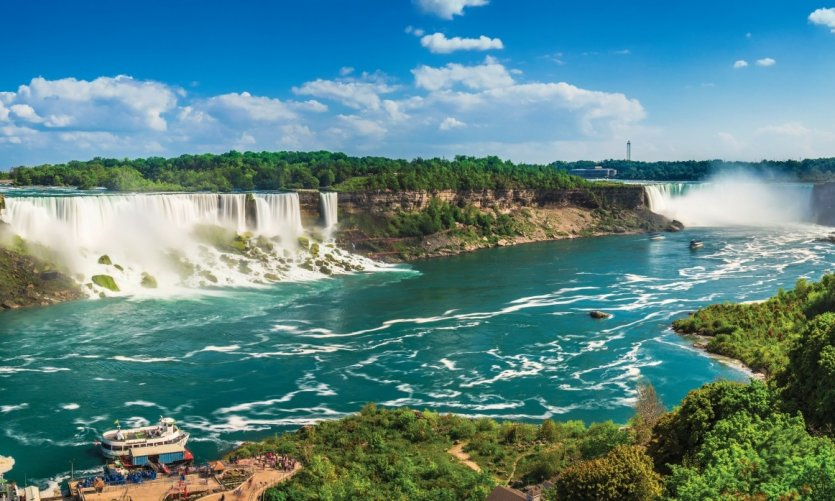Phénomène naturel spectaculaire des chutes du Niagara.
