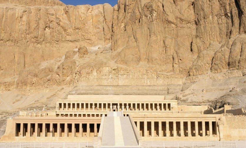 Deir el-Bahari, le temple de la reine Hatchepsout.