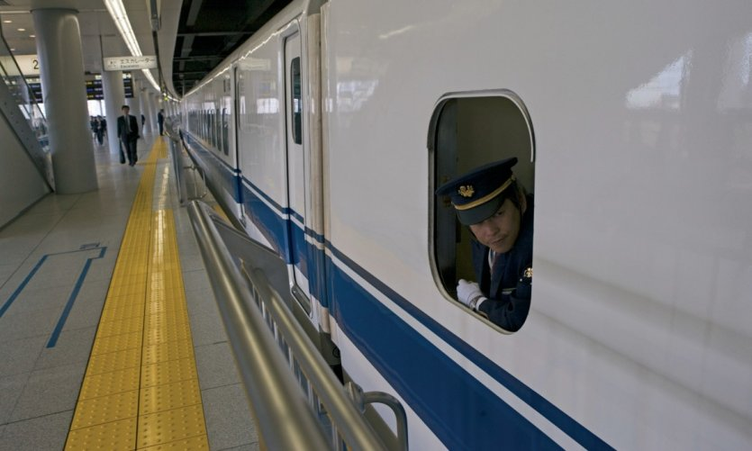 Le Shinkansen, train express de Tokyo.