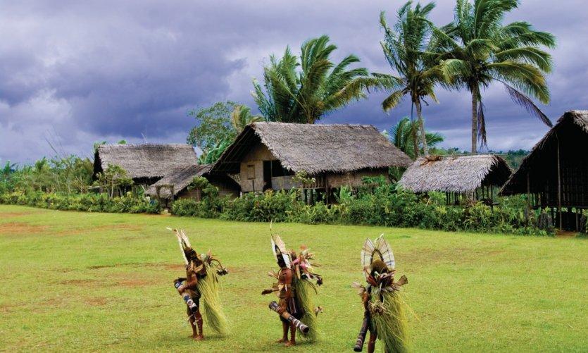 Village Kaluli à Bosavi, Southern Highlands Province.