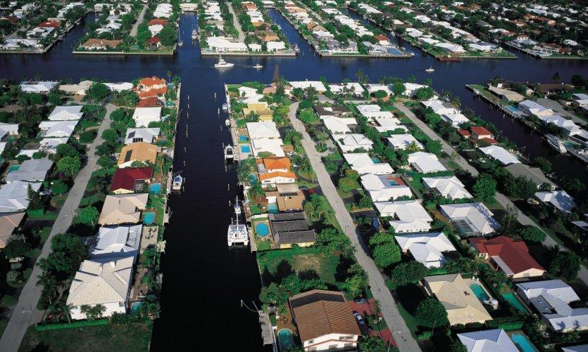 Canaux à Fort Lauderdale.