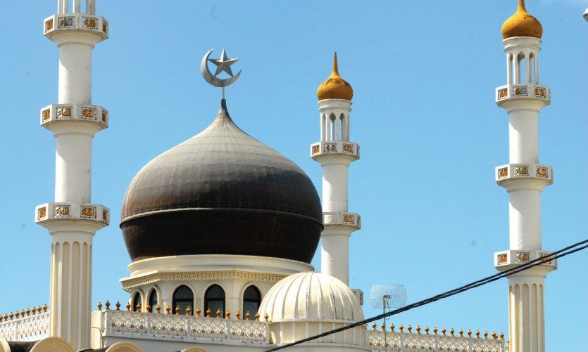 Mosquée de Jama Masjid inaugurée en 1984, sur la Keizerstraat.
