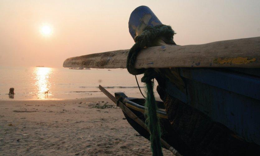 Pirogues des pêcheurs béninois.