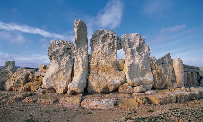 Ruines du temple solaire de Hagar Qim, datant du néolithique.