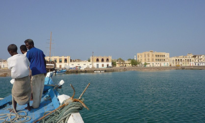 <p>Arrival in the port of Massawa.</p>