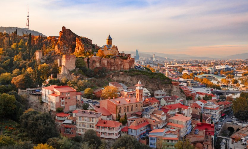 <p>View of Tbilisi.</p>