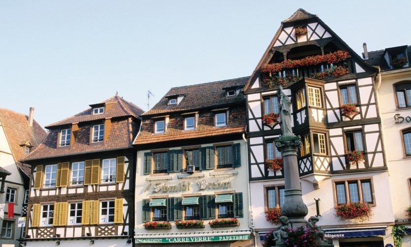 Façades de maisons à Obernai