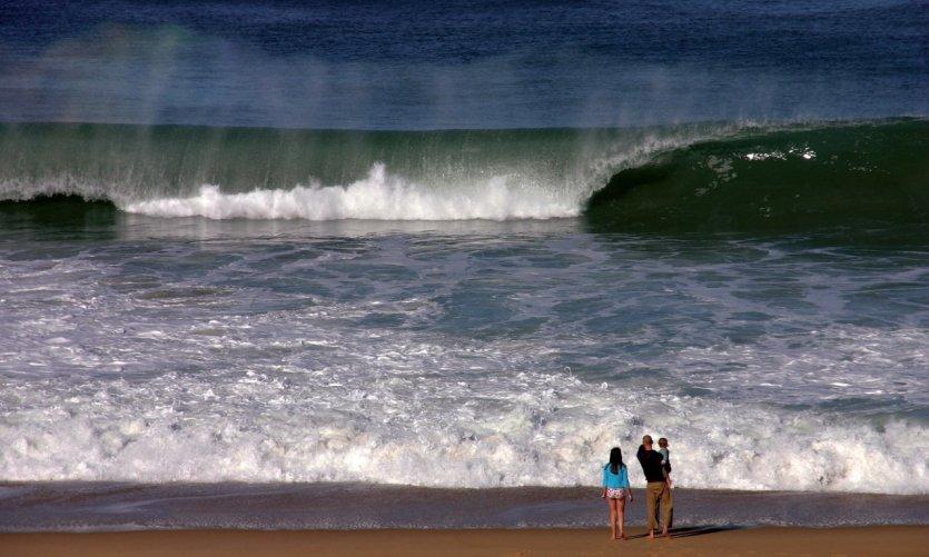 Les vagues de l'océan atlantique